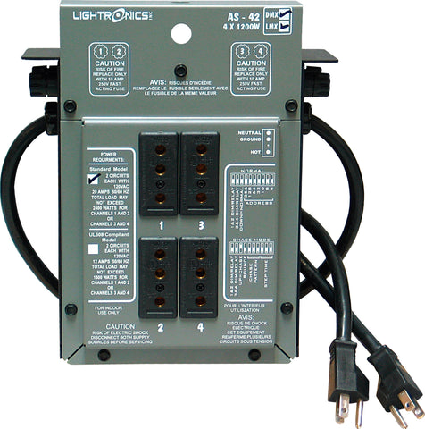 A high quality Image of Lightronics AS42DC Portable Dimmer
