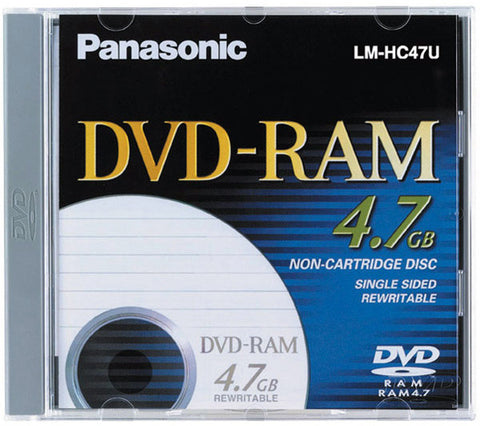 Panasonic LM-HB47LU 2x-3x Rewritable Single-Sided DVD-RAM Disc With Cartridge