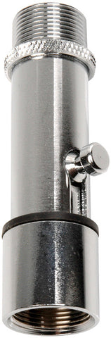 Atlas Sound LO-2B Chrome Lock-On Microphone Stand Adapter
