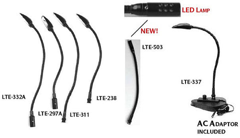 A high quality Image of Hosa LTE-297A Console Lamp XLR3M 12VDC 5W 15in