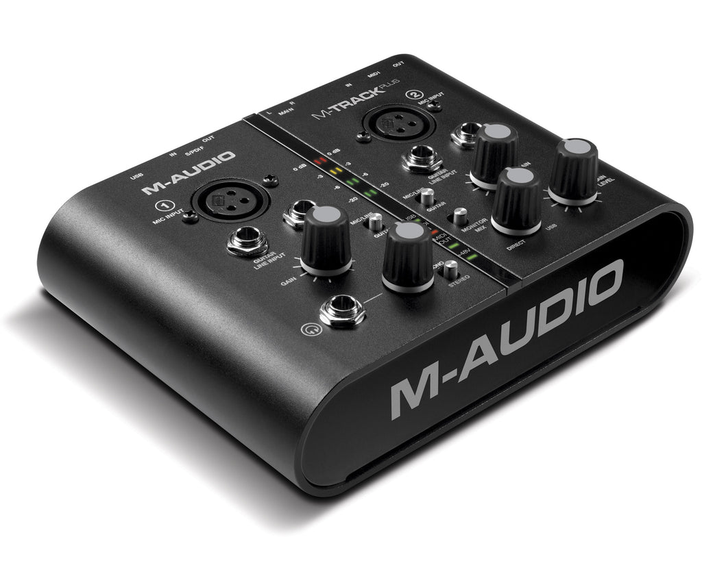M-Audio M-Track Plus Two-Channel USB Audio/MIDI Interface with Digital I/O