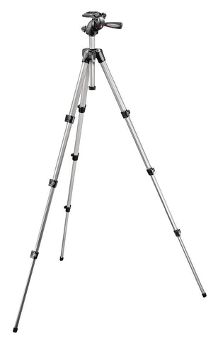 A high quality Image of Manfrotto MK394-H 394 Aluminum Tripod with Integrated Photo/Video Head