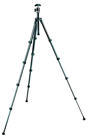 A high quality Image of Manfrotto MKC3-P01 Compact Series Tripod with Built-in Photo Head - Black