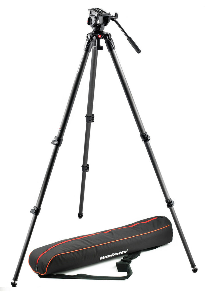 Manfrotto MVK500C Lightweight Fluid Video System / Carbon / Single Legs
