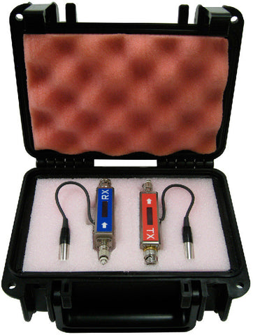 Advanced Fiber Products MC2 3G HD BNC to ST Fiber Optic Tx/Rx Kit with International Power Supplies