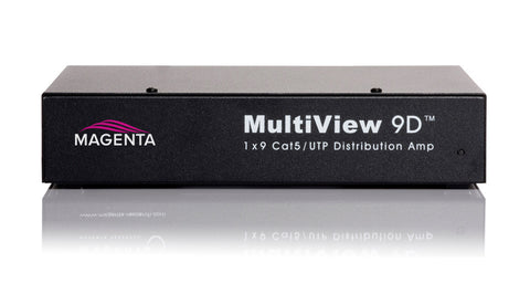 A high quality Image of Magenta 9D 1 x 9 Distribution Amplifier for MultiView