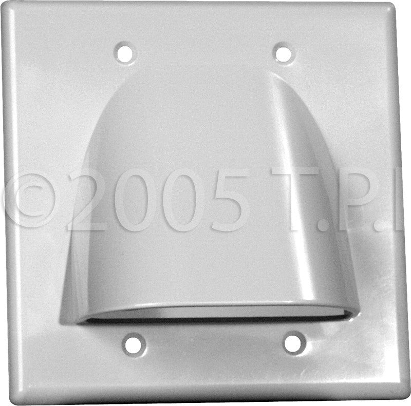 Midlite Double-Gang White Bulk Cable Pass Through Plate