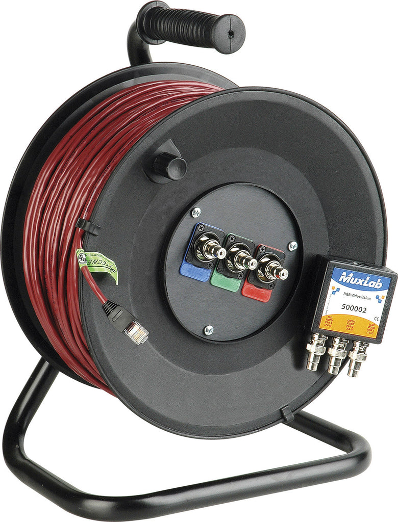 Cable Reel Connect-N-Go Component 1080i Over CAT5 with Belden BL-7987R Zero Skew 500 Foot