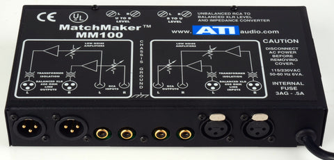 ATI Audio MM100 Matchmaker Level and Impedence Matcher