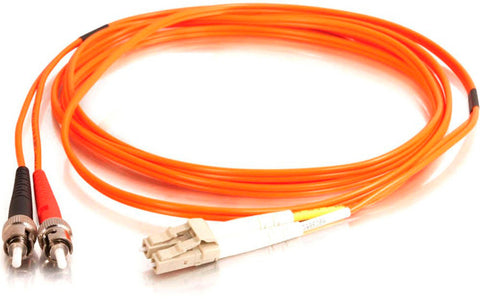 A high quality Image of 1-Meter 62/125 Fiber Optic Patch Cable Multimode Duplex ST to LC - Orange