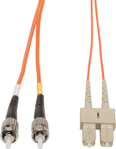 A high quality Image of 1-Meter 62/125 Fiber Optic Patch Cable Multimode Duplex ST to SC - Orange
