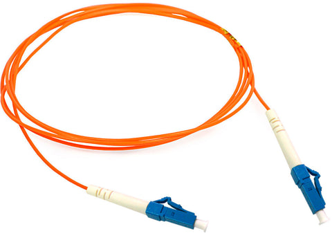 A high quality Image of 1-Meter 62/125 Fiber Optic Patch Cable Multimode Simplex LC to LC - Orange