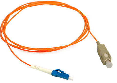 A high quality Image of 1-Meter 62/125 Fiber Optic Patch Cable Multimode Simplex LC to SC - Orange