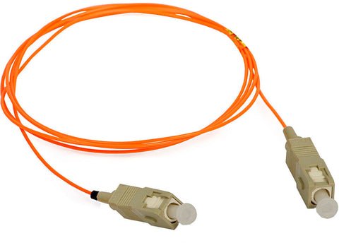 A high quality Image of 1-Meter 62/125 Fiber Optic Patch Cable Multimode Simplex SC to SC - Orange