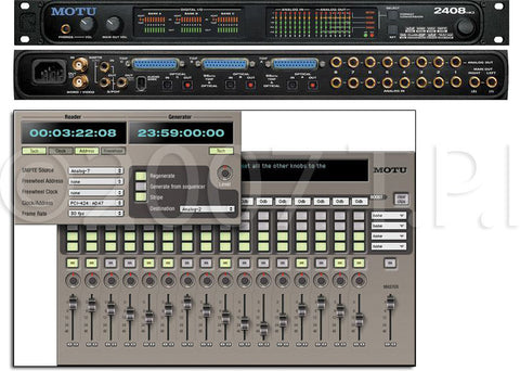 MOTU 2408mk3 96 kHz PCIe Audio Recording System for MAC and Windows
