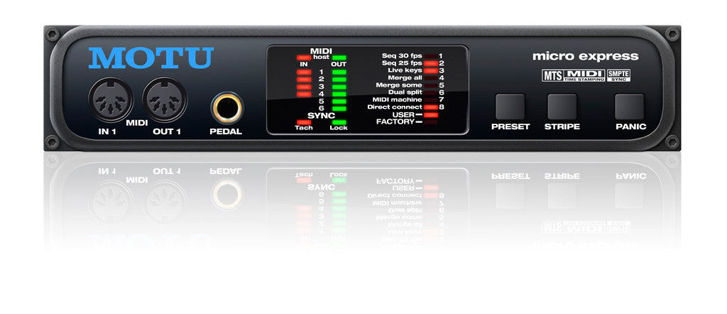 MOTU Micro Express 4-in/6-out MIDI Interface with SMPTE Synchronization