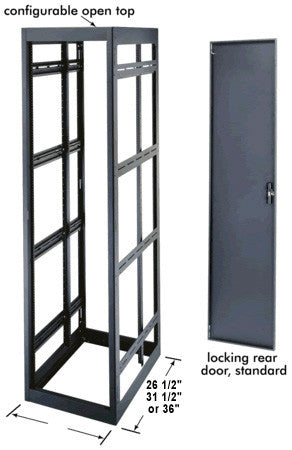 Middle Atlantic MRK-4031 Putty 40 Space Rack Enclosure 31.5in. Deep with Rear Door