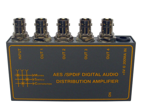 Matrix Switch MSC-AES/SPDIF4 AES/SPDIF 4 Output Digital Audio Dist. Amplifier