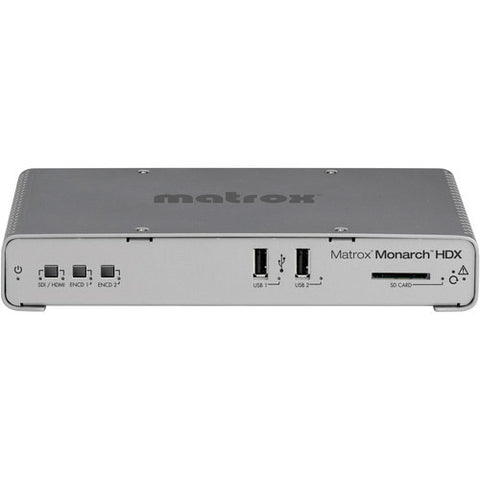 Matrox MHDX/I Monarch HDX Dual-Channel H.264 Encoder for Broadcast Streaming and Recording - B-Stock (Refurbished)