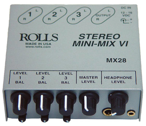 Rolls MX28 3-Channel Mini-Mix VI