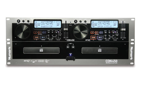 Numark CDN450 Rack-Mount Professional Dual MP3/CD Player with Anti-Shock