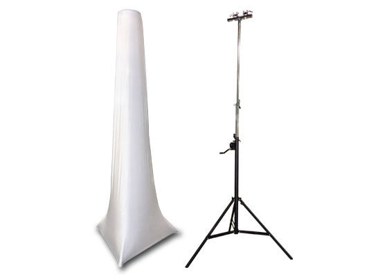 Odyssey Cases Scrim Werks High Crank Stand Slip Screen 15FT White