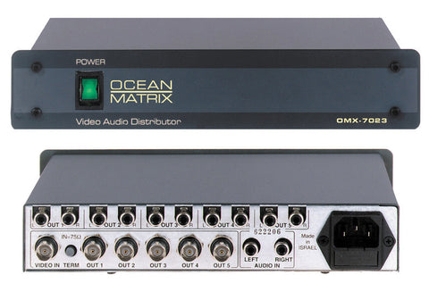 Ocean Matrix Desktop 1x5 Stereo Audio Video DA