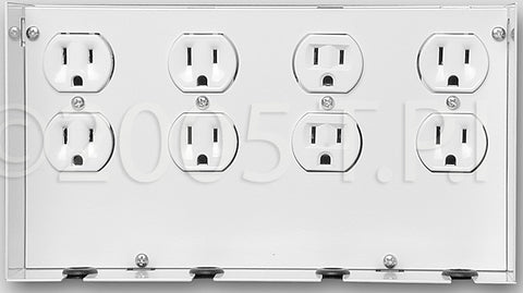 Open House Outlet mounts for grid enclosures - 4 outlets
