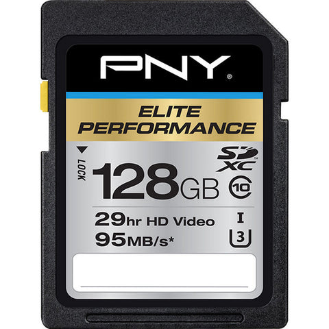 PNY Elite Performance P-SDX128U395-GE 128GB SDXC Class 10/ U3 card