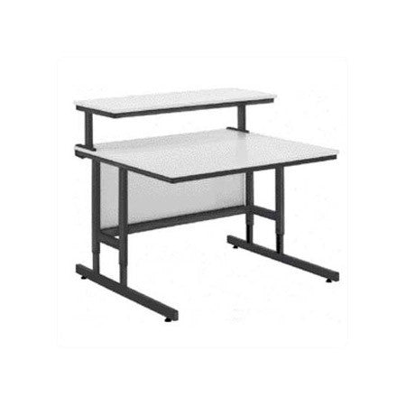 Da-Lite 90092 Adjustable Height 55in Wide Multimedia Workstation With 4in Casters