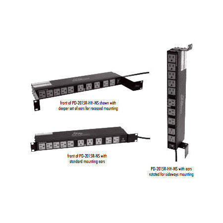 20 Outlet Single 15A Multi-Mount Rackmount Power Strip