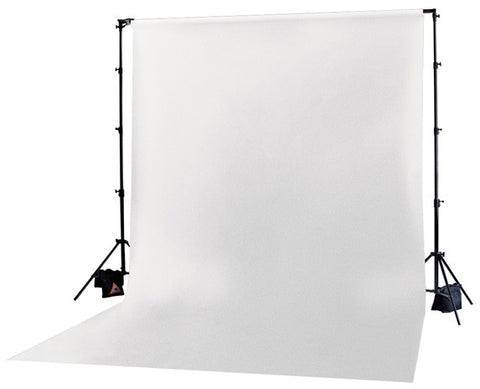 Photoflex DP-MCK002 10 x 20 Ft. White Solid Muslin BackDrop