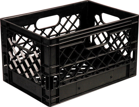 A high quality Image of 24 Quart Grey Plastic Milk Crate Gray