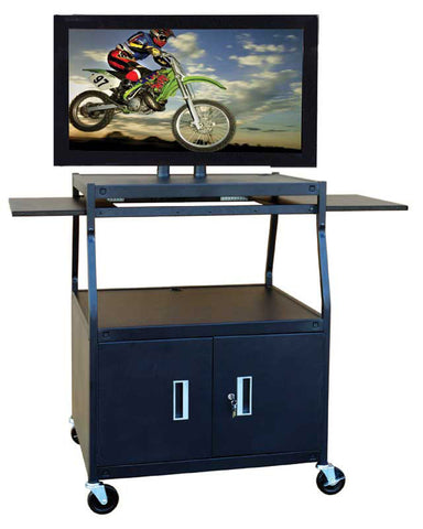 Hamilton Buhl PLCAB44E Wide Body Flat Panel TV Cart with Locking Cabinet