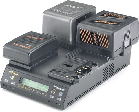 A high quality Image of Anton Bauer QUAD 2702 Sequential Four Position PowerCharger with LCD