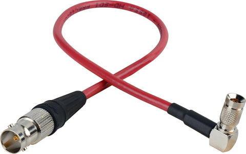 Laird Red One Video 3G SDI DIN RA 1.0/2.3 to BNC-F Adapter Cable - 1 Foot - Red