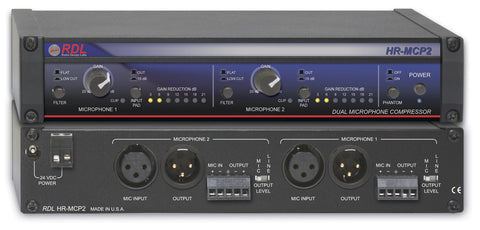 RDL HR-MCP2 Professional Dual Microphone Compressor