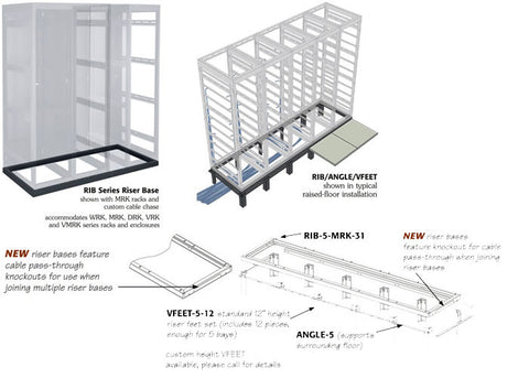 2 Bay Riser for MRK Racks 31in Deep