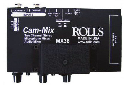 Rolls MX36 Cam-Mix - 2 Channel Microphone Mixer