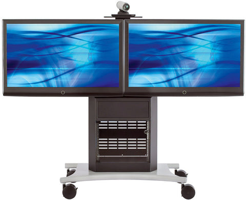 Avteq RPS-1000L Dual Rollabout Plasma/LCD Stand (Extended Back Panel)