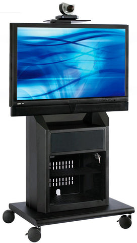 Avteq RPS-800S Rollabout Video Conferencing Cart for a 37-52 Inch Flat Screen
