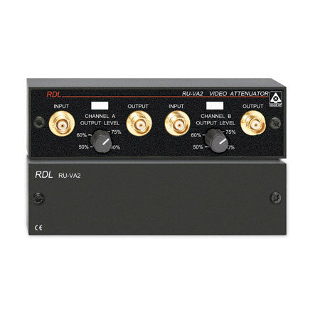 RDL RU-VA2 Dual Adjustable Video Attenuator - BNC