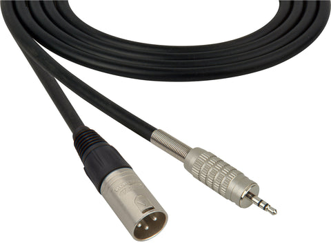 A high quality Image of Canare Star-Quad Microphone Cable XLR Male to 3.5mm TRS Male 10FT (Multiple Colors)