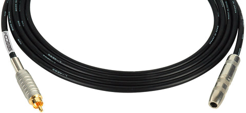 "Canare Star-Quad Microphone Cable 1/4"" TS Female to RCA Male 15FT (Multiple Colors)"
