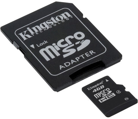 A high quality Image of Kingston SDC4-4GB 4GB microSDHC Memory Card with SD Adapter