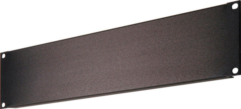 A high quality Image of 2 RU Black Anodized Aluminum Blank Rack Panel