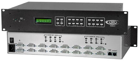 NTI SM-16X16-DVIA-LCD DVI Video Matrix Switch with Audio Option (2RU)