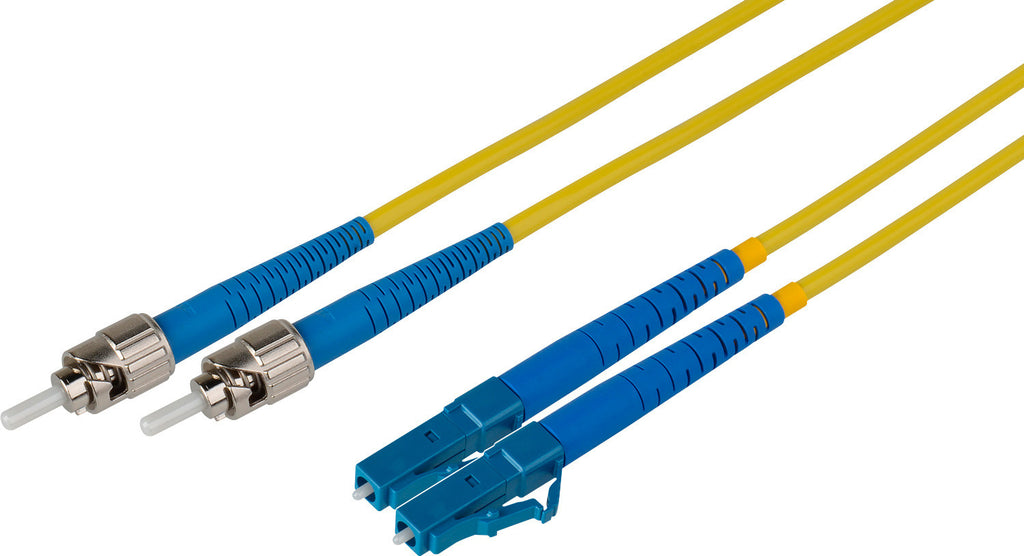 A high quality Image of Camplex 15-Meter 9u/125u Fiber Optic Patch Cable Singlemode Duplex ST to LC - Yellow