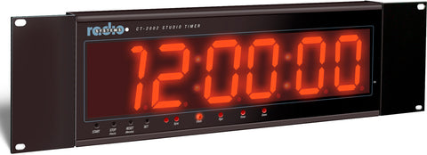 Radio Systems CT-2002 Large 2-Inch LED Studio Clock with GPS & IR Remote