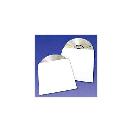 White Tyvek Sleeve without Window for DVD or CD - 100 pack
